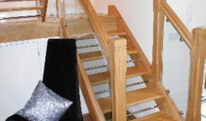 Contemporary Oak staircase