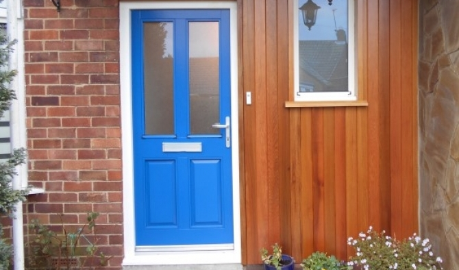 Front door and frame set with Cedar cladding